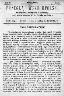 Przegląd Wszechpolski : miesięcznik polityczny ispołeczny. 1900, nr3