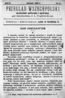 Przegląd Wszechpolski : miesięcznik polityczny ispołeczny. 1900, nr4