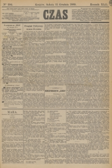 Czas. R.42, Ner 294 (21 grudnia 1889)