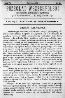 Przegląd Wszechpolski : miesięcznik polityczny ispołeczny. 1900, nr6