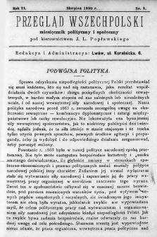 Przegląd Wszechpolski : miesięcznik polityczny ispołeczny. 1900, nr8
