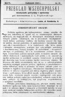 Przegląd Wszechpolski : miesięcznik polityczny ispołeczny. 1900, nr10