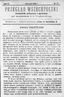 Przegląd Wszechpolski : miesięcznik polityczny ispołeczny. 1900, nr11