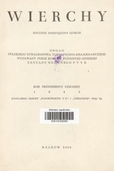 Wierchy : rocznik poświęcony górom. R.34, 1965