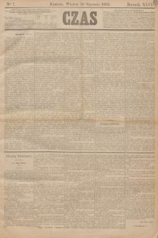 Czas. R.46, Ner 7 (10 stycznia 1893)