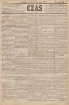Czas. R.46, Ner 14 (18 stycznia 1893)