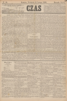 Czas. R.46, Ner 35 (12 lutego 1893)