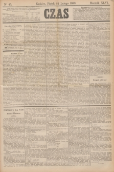 Czas. R.46, Ner 45 (24 lutego 1893)