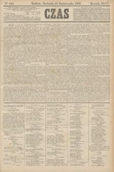 Czas. R.46, Ner 242 (22 października 1893)