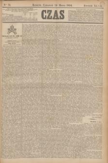 Czas. R.47, Ner 71 (29 marca 1894)