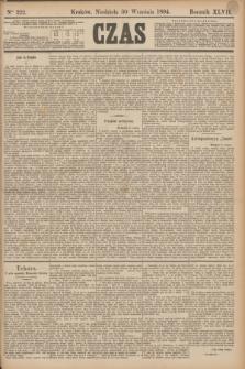 Czas. R.47, Ner 222 (30 września 1894)