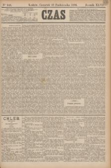 Czas. R.47, Ner 243 (25 października 1894)