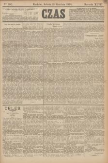 Czas. R.47, Ner 285 (15 grudnia 1894)