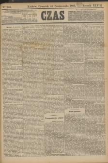 Czas. R.48, Ner 245 (24 października 1895)