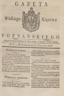 Gazeta Wielkiego Xięstwa Poznańskiego. 1830, № 8 (27 stycznia) + dod.