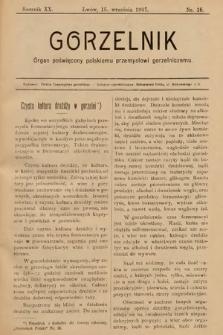 Gorzelnik : organ poświęcony polskiemu przemysłowi gorzelniczemu. R. 20, 1907, nr18
