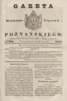 Gazeta Wielkiego Xięstwa Poznańskiego. 1844, № 229 (30 września)