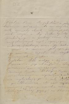 Korespondencja rodzinna Świderskich z lat 1834-1880