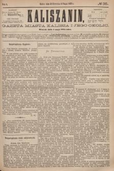 Kaliszanin : gazeta miasta Kalisza i jego okolic. R.6, № 35 (4 maja 1875)