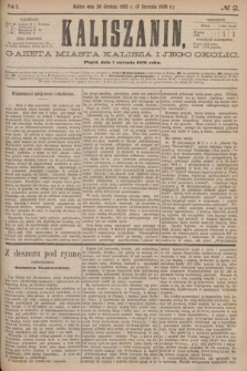 Kaliszanin : gazeta miasta Kalisza i jego okolic. R.7, № 2 (7 stycznia 1876)