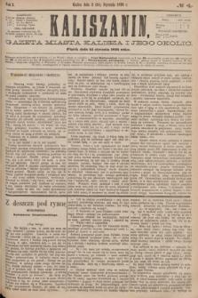 Kaliszanin : gazeta miasta Kalisza i jego okolic. R.7, № 4 (14 stycznia 1876)