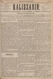 Kaliszanin : gazeta miasta Kalisza i jego okolic. R.7, № 6 (21 stycznia 1876)