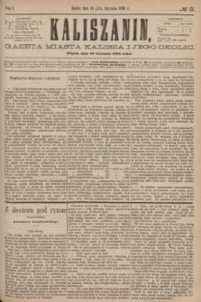 Kaliszanin : gazeta miasta Kalisza i jego okolic. R.7, № 8 (28 stycznia 1876)