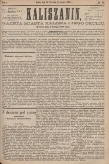 Kaliszanin : gazeta miasta Kalisza i jego okolic. R.7, № 9 (1 lutego 1876)