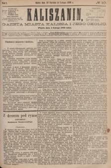 Kaliszanin : gazeta miasta Kalisza i jego okolic. R.7, № 10 (4 lutego 1876)