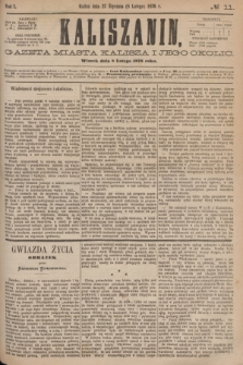 Kaliszanin : gazeta miasta Kalisza i jego okolic. R.7, № 11 (8 lutego 1876)
