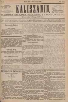 Kaliszanin : gazeta miasta Kalisza i jego okolic. R.7, № 13 (15 lutego 1876)