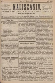 Kaliszanin : gazeta miasta Kalisza i jego okolic. R.7, № 14 (18 lutego 1876)