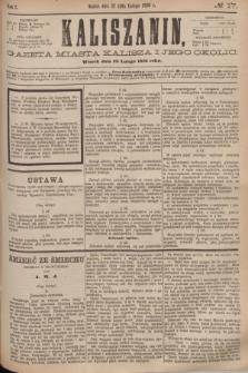 Kaliszanin : gazeta miasta Kalisza i jego okolic. R.7, № 17 (29 lutego 1876)