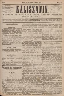Kaliszanin : gazeta miasta Kalisza i jego okolic. R.7, № 18 (3 marca 1876)