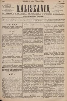 Kaliszanin : gazeta miasta Kalisza i jego okolic. R.7, № 19 (7 marca 1876)