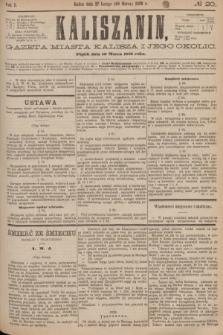 Kaliszanin : gazeta miasta Kalisza i jego okolic. R.7, № 20 (10 marca 1876)