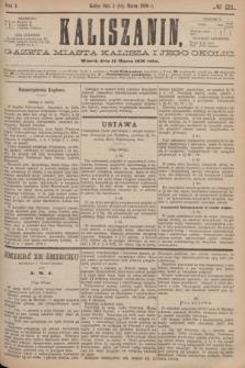 Kaliszanin : gazeta miasta Kalisza i jego okolic. R.7, № 21 (14 marca 1876)