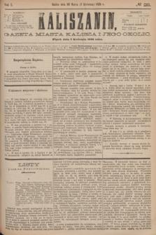 Kaliszanin : gazeta miasta Kalisza i jego okolic. R.7, № 28 (7 kwietnia 1876)