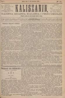 Kaliszanin : gazeta miasta Kalisza i jego okolic. R.7, № 31 (21 kwietnia 1876)