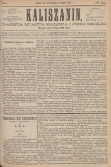Kaliszanin : gazeta miasta Kalisza i jego okolic. R.7, № 34 (2 maja 1876)