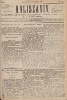 Kaliszanin : gazeta miasta Kalisza i jego okolic. R.7, № 36 (9 maja 1876)