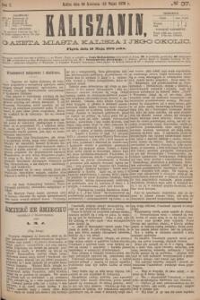 Kaliszanin : gazeta miasta Kalisza i jego okolic. R.7, № 37 (12 maja 1876)
