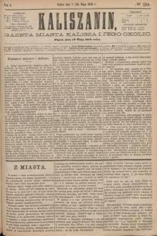 Kaliszanin : gazeta miasta Kalisza i jego okolic. R.7, № 39 (19 maja 1876)