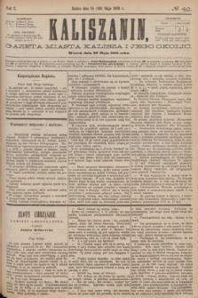 Kaliszanin : gazeta miasta Kalisza i jego okolic. R.7, № 42 (30 maja 1876)