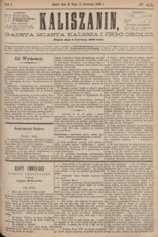 Kaliszanin : gazeta miasta Kalisza i jego okolic. R.7, № 43 (2 czerwca 1876)