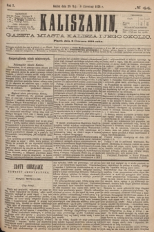 Kaliszanin : gazeta miasta Kalisza i jego okolic. R.7, № 44 (9 czerwca 1876)