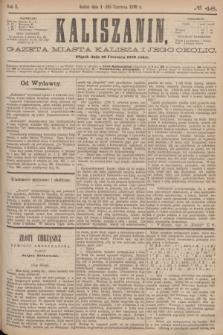 Kaliszanin : gazeta miasta Kalisza i jego okolic. R.7, № 46 (16 czerwca 1876)