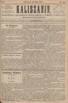 Kaliszanin : gazeta miasta Kalisza i jego okolic. R.7, № 49 (27 czerwca 1876)