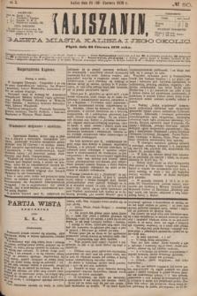 Kaliszanin : gazeta miasta Kalisza i jego okolic. R.7, № 50 (30 czerwca 1876)