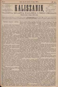 Kaliszanin : gazeta miasta Kalisza i jego okolic. R.7, № 51 (4 lipca 1876)